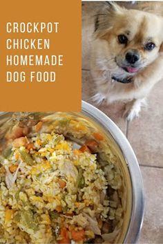 Crockpot Chicken Homemade Dog Food Dog Treat Recipes, Dog Food Recipes, Healthy Recipes, Cooker Dog, Vegan Dog Food, Make Dog Food, Pet Food, Homemade Dog Treats, Doggie Treats