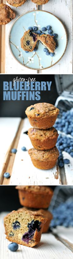 GF Blueberry Muffins -- fluffy, moist, sweet...and sooooooooo much better for you than what comes from a box!