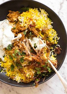Biryani is a celebration of all that is great about Indian food! The aromas, the vibrant colour, that fluffy rice. Choose from a chicken biryani, vegetable biryani or other protein of choice. # Healthy Recipes on the go Biryani Bbc Good Food Recipes, Indian Food Recipes, Asian Recipes, Dinner Recipes, Healthy Indian Food, Indian Chicken Recipes, Ethnic Recipes, Biryani Chicken, Meal Prep