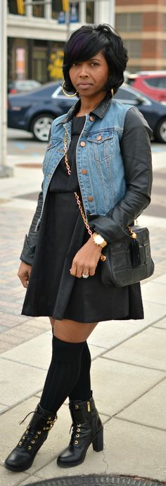 Fall 2014-Knee Socks- Black Dress - Sweenee Style