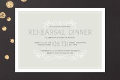 Sophisticate Rehearsal Dinner Invitations by Jessica Williams at minted.com
