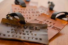 Custom Leather Luggage Tag! Create your own luggage tag. Great for the traveling man! Great gift idea for men! Christmas is right around the corner!
