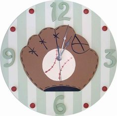 Baseball Wall Clock and decor at Jack and Jill Boutique