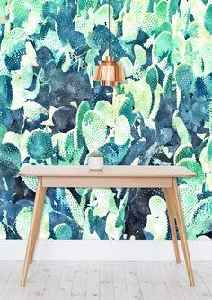 'Watercolor Cactus' Wallpaper @mipic_app #mipic #cactus #decor #wallpapers