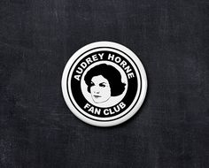 audrey horne fan club button by yourfanclub on Etsy