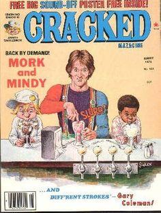 Cracked magazine (August — Mork and Mindy ABC) parody with Robin Williams Mad Magazine, Magazine Covers, Magazine Rack, Mork & Mindy, Retro Pop, Vintage Comics, Vintage Ads, Robin Williams, Old Tv