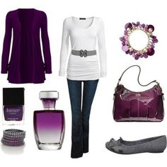 Purple outfits