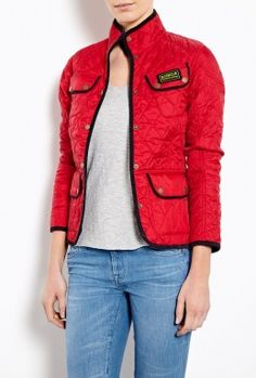 Red Summer Vintage International Quilted Jacket by Barbour