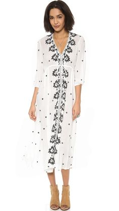 Free People ~ Embroidered Maxi Dress
