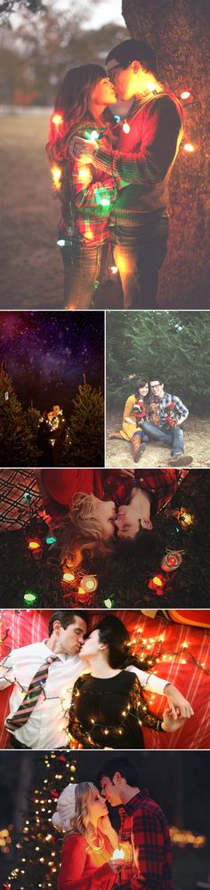 Christmas Engagement Photos - Not quite what we're thinking but I definitely like some of the ideas! :)