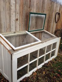 Upcycled Greenhouse From Old Windows and Doors. Old Window Greenhouse, Simple Greenhouse, Greenhouse Plans, Garden Windows, Wood Windows, Windows And Doors, Antique Windows, Vintage Windows, Recycled Door