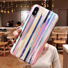 USLION Colorful Rainbow Case For iPhone XS Max XR X IMD Silicone Phone Cases  For iPhone 7 6 6s 8 Plus Soft TPU Back Cover Coque  iphonexsmax 9a5b2d6e5978