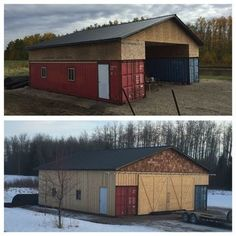 Our Shipping Container/Seacan Barn Alberta, Canada