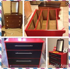 Dresser turned into a tool chest.
