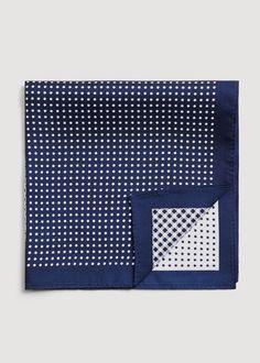 Pöttyös selyem díszzsebkendő | MANGO MAN