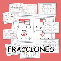 Fichas de matemáticas para primaria: Fracciones