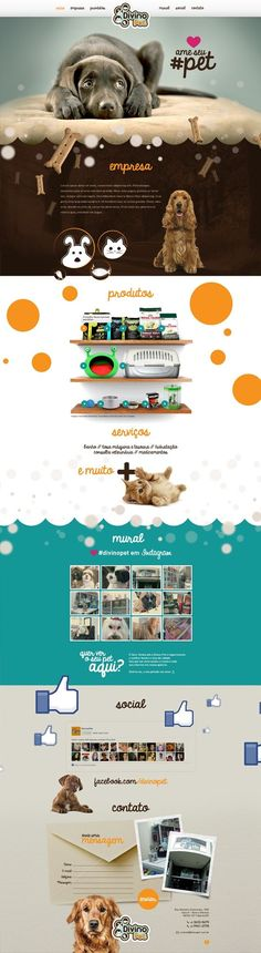 Unique Web Design, for Divino Pet Website Layout, Web Layout, Layout Design, Webdesign Inspiration, Website Design Inspiration, Best Website Design, Website Designs, Website Ideas, Mise En Page Web