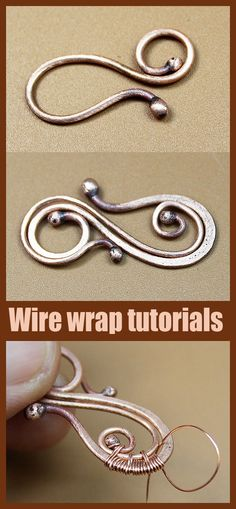 Wire Tutorials, Jewelry Making Tutorials, Wirework Jewelry Tutorials, Wire Jewelry Making, Wire Jewellery, Jewelry Knots, Wire Bracelets, Wire Rings, Jewelry Tree