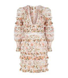 c7162bd56598 Women  Dresses Zimmermann Radiate Smocked Mini Dress Ruffle Dress
