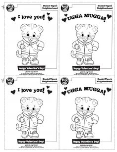Daniel Tiger Valentines {Free Printable} | Ready Set Parenthood | Pinterest  | Daniel Tiger, Free Printable And Tigers