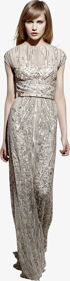 Don't know where I would ever wear this, but I love it !--Art Deco Inspired Gold Gown by Ellie Saab (ready-to-wear: resort 2013)