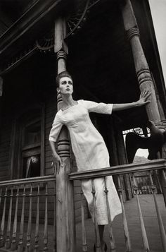 """""""Ina et Hitchcock Harper's Bazaar, Hollywood"""" by Jeanloup Sieff — shot in 1962 with model Ina Balke"""