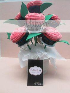 ramo rosas cupcake