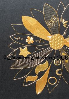Goldwork design from Japanese Embroidery Academy
