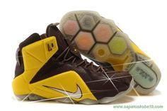684593-013 Amarelo/Marrom Nike Lebron 12 P.S. Elite Masculino