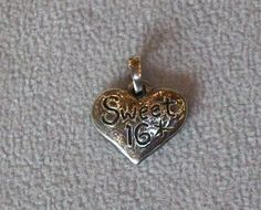 Sweet 16 Pendant/Charm by Jeep Collins, Sterling Silver