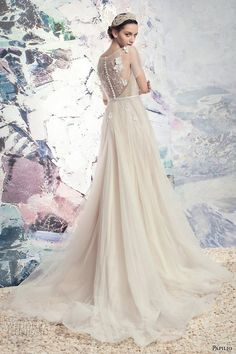 papilio 2016 bridal illusion flutter sleeves sheer jewel sweetheart neckline embellished bodice tulle skirt lace back chapel train (1632l rio colorado) bv
