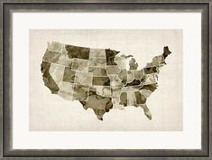 Framed maps make great nursery decor!