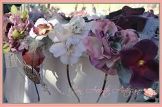 Diademas de flores de Aurora Cottan en el Gran Soho Alameda #mercadillo #soho #Sevilla