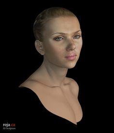 Scarlett Johansson - zbrush  stupenda riproduzione 3D dell'omonima e bellissima attrice