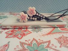 Petite Pink Petal Earbuds with swarovski by HoneyBadgerBuds, $12.00