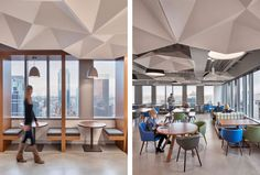 SoundStar® ceiling system's hexagonally shaped cellular coffers offer a scalable way to add geometric dimensionality and disrupt sound's ability to travel across a space. Best Interior Design Apps, Ceiling Panels, Interior Architecture, House, Ceilings, Furniture, Office Spaces, Home Decor, Thesis