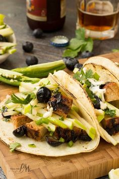 Apple Slaw Pork Loin Tacos are full of tender pork loin, crunchy apple slaw spiked with juicy blueberries wrapped in warm, soft tortillas. @Recipeasy from Hormel Foods #ad