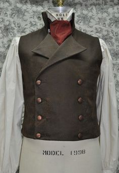 Men's Victorian/Steampunk Double Breasted Vest by OnceUponABustle