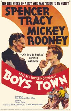 Boys Town - 1938 | Spencer Tracy as Boys Town founder, Father Flanagan