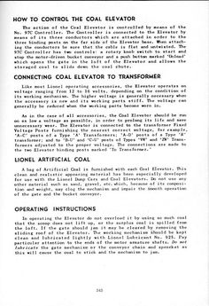 No. 97 Coal Elevator from Greenberg's Repair & Operating Manual for Lionel Trains p.343