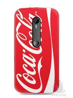 Capa Moto G3 Coca-Cola - SmartCases - Acessórios para celulares e tablets :)
