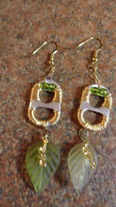Soda Tab Earrings by FrogsPondStudio on Etsy, $6.00