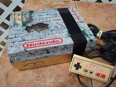 Zelda Custom NES Console by mbtaylorproductions.deviantart.com on @deviantART