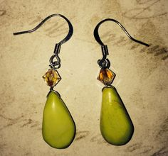 By The Sea Earrings #1 by CronesNestArt on Etsy $10.00