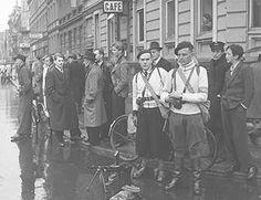 Danish Resistance.  1943.  Sweaters, Coats, shoes.