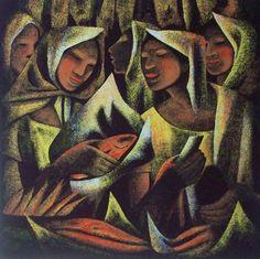 Anita Magsaysay-Ho (1914-2012) - Fish Vendor Filipina, Vintage Artwork, American Art, Art Teachers, Artist, Austria, Canon, Facial, Portraits