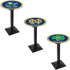 Notre Dame Fighting Irish Square-Base Pub Table - Sports Fans Plus