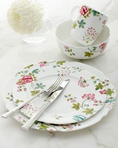 """""""Sophia"""" Dinnerware, I like to mix and match pieces together. Don't know why I love dinnerware so much, but I always have!"""