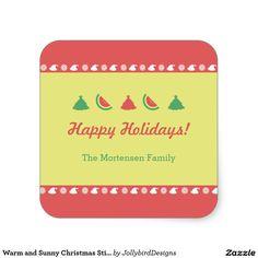 Warm and Sunny Christmas Sticker White Christmas, Xmas, Tropical Fruits, Christmas Stickers, Happy Holidays, Sunnies, Watermelon, Warm, Orange