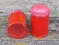 Vintage Red Gemco Salt and Pepper Shakers.  via Etsy.